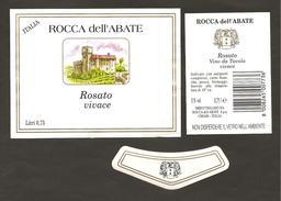 ITALIA - Etichetta Vino ROSATO VENETO Cantina ROCCA DELL'ABATE Di Chiari Rosato Del VENETO - Castello - Vino Rosato