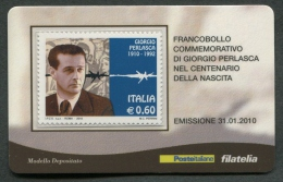 ITALIA TESSERA FILATELICA 2010 - ANNIVERSARIO NASCITA GIORGIO PERLASCA - 356 - 6. 1946-.. Republik
