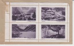 VIGNETTES : CARNET  (reste 4 Vignettes) CAUTERETS , Lac De GAUBE, Pont D'ESPAGNE, Eta Thermal Des GRIFFONS ,vue Générale - Erinnofilia