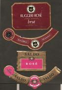 ITALIA - 2 Etichette Vino LAGREIN ROSE' Spumante Brut Cantine RUGGERI E VALDO Rosato Del VENETO - Vino Rosato