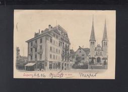 Schweiz AK Luzern Hotel Rebsock Au Quai 1906 - LU Lucerne