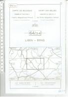 Belgique L'institut Geographique Militaire - Belgie Militair Geografisch Instituut - 64/3-4 Libin - Bras - Cartes Topographiques