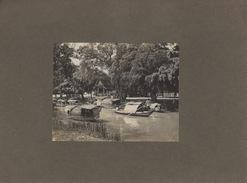 Ballade Sur La Rivière,  Photo Sur Carton   20 Cm X 15 Cm - Cartes Postales