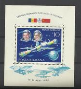 Roumanie Romania  BF** YT 150  Cosmonautes Soyouz - Space