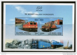 INDIA, 2013, Railway Workshop,  Miniature Sheet, MNH, (**) - Treinen