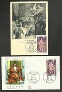 N° 1497 - CHARLEMAGNE / Lot Carte Maximum & Enveloppe FDC / NOYON 1966 - Cartes-Maximum
