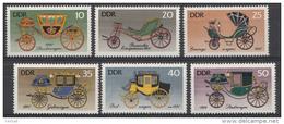 OOST-DUITSLAND MI.NR.2147-2152 Historische Kutschen 1976 MNH / POSTFRIS / NEUF SANS CHARNIERE - [6] Democratic Republic