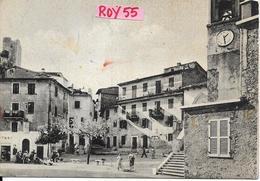 Lazio-roma-olevano Romano Piazza S.rocco Veduta Alimentari Vespa Moto Persone Animata Anni 50 - Italia