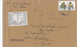 YY009 -- Bande De Journal IMPRIME LOURD  TP Buzin 10 F + 8 F - NAMUR 1996 Vers ALSEMBERG Et RETOUR Envoyeur - 1985-.. Oiseaux (Buzin)