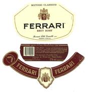 ITALIA - Etichetta Vino FERRARI Spumante Brut Rosè 1988 Cantina FERRARI Di Trento Rosato Del TRENTINO ALTO ADIGE - Vino Rosato