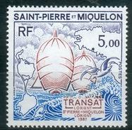 Saint Pierre And Miquelon, Sailing, Lorient-St Pierre Et Miquelon, 1987, MNH VF - St.Pierre & Miquelon