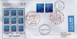 Les Constellations De La Voûte Céleste, Lettre 2017 Tokyo, Adressée  ANDORRA,avec Timbre à Date Arrivée - 1989-... Keizer Akihito (Heisei-tijdperk)