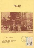 Carte Timbré Paris 16 Passy - Autres