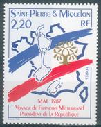 Saint Pierre And Miquelon, Visit Of President François Mitterrand, 1987, MNH VF - St.Pierre & Miquelon