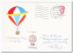Ballonvaart St. Niklaas België 02-09-1989, Nimbus - Luchtballons
