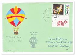 Ballonvaart 15 Okt. 1988 De Lier, On Board PH-BOX - Luchtballons