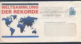 Germany 1992 Cover: Maps Weltsammlung Der Rekorde Slogan Cancellation - Geographie
