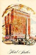 HOTEL STATLER BUFFALO POST CARD  ZTU. - Hotel's & Restaurants