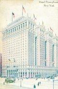 HOTEL PENNSYLVANIA NEW YORK POST CARD  ZTU. - Hotel's & Restaurants