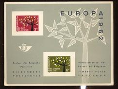 Europa 1962  Feuillet De Luxe  Coté 100 Euro   Tirage De 800 Ex - Libretti Di Lusso