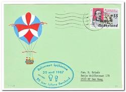 Ballonvaart Spijkenisse 30-4-1987, 50 Jaar Juliana Bernhard ( Lichte Vouw ) - Luchtballons
