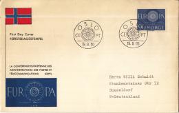 CEPT - FDC Noorwegen - Oslo - Michel 449 - 1960