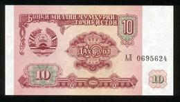 Tadschikistan 1994, 10 Rubel - UNC - Tadschikistan