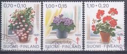 FINLANDIA 1981 Nº 849/51 USADO - Gebraucht