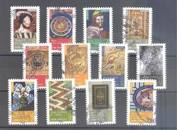 France Autoadhésifs Oblitérés N°1011 à 1022 (Objets D'art Renaissance En France) (Cachet Rond) - France