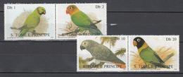 Sao Tome 1987,4V,parrots,papegaaien,birds,vogels,vögel,oiseaux,pajaros,uccelli,aves,MNH/Postfris(A3205) - Parrots