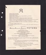 SAINT-TROND LOUVAIN Arthur PETERS Ingénieur Président Tribunal De Commerce BODART HENRY Doodsbrief 1874-1932 - Décès