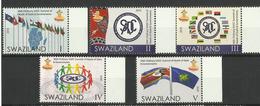 SWAZILAND  2016  SADC  SUMMIT,FLAGS  SET  MNH - Swaziland (1968-...)