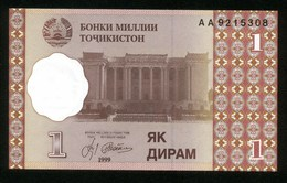 Tadschikistan 1999, 1 Diram - UNC - Tadschikistan