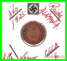 GERMANY  -   MONEDA  DE  1- REICHSPFENNIG  AÑO 1925 E   Bronze - 1 Rentenpfennig & 1 Reichspfennig