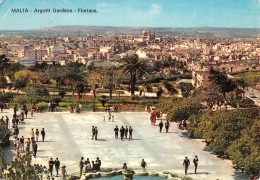 """06715  """"MALTA - ARGOTTI GARDENS - FLORIANA"""" ANIMATA. CART. ILL. ORIG. SPED. 1969 - Malta"""