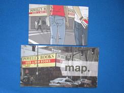 Portland. Powell's Books. Carte Postale Publicitaire Avec Carte Depliant De La Librairie - Portland
