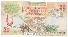 COOK ISLANDS=N/D   20  DOLLARS   P-9    UNC - Islas Cook