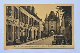 VILLENEUVE-sur-YONNE-hotel Du Dauphin Et Porte De Joigny-animee - Villeneuve-sur-Yonne