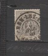 COB 23A Oblitéré Double Cercle BERCHEM-LEZ-ANVERS Coba +8 - 1866-1867 Coat Of Arms