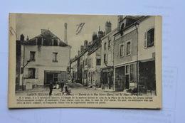 SAINT-JULIEN-du-SAULT-entree De La Rue Notre Dame Sur La Place De L'eglise-animee - Saint Julien Du Sault