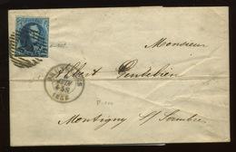 7 De Belgique   Médaillon 20c Sur Lettre - 1851-1857 Médaillons (6/8)