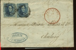 7 De Belgique     2 Ex Sur Lettre - 1851-1857 Medallions (6/8)