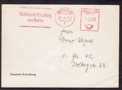 KN24    Germany - Red Meter Freistempel  EMA 1971 - Bezirksamt Kreuzberg Von Berlin - BRD