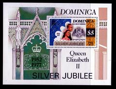 DOMINICA. 1977   QEII 25 YEARS CORONATION JUBILEE SHEET MNH - Royalties, Royals