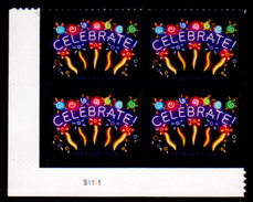 USA, 2015 Scott #5019, Celebrate, Forever (.49),  Plate Block, LL, MNH, VF - Verenigde Staten