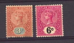 GB  -  Ceylan  :  Yv  128-29  * - Ceylon (...-1947)