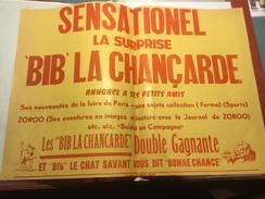 BAILLEUL -  Pochettes Surprises Chat Savant BIB - AFFICHE PUBLICITAIRE - Nord - Werbung