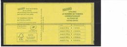 VARIETE: CARNET SAGEM MARIANNE DE CIAPPA .Carré Bleu Sur Couverture + Timbres Impression Décalée. - Carnets