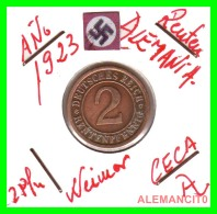 GERMANY - MONEDA DE 2- RENTENPFENNIG AÑO 1923 A Bronze - [ 3] 1918-1933 : República De Weimar