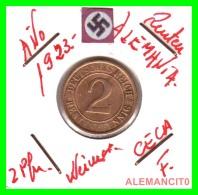 GERMANY - MONEDA DE 2- RENTENPFENNIG AÑO 1923 F Bronze - [ 3] 1918-1933 : Repubblica Di Weimar